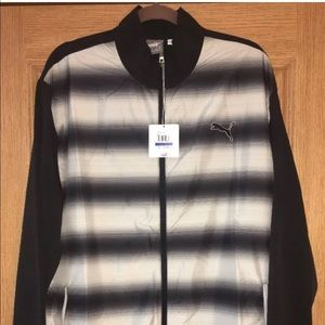 Puma Full Zip Ombre Striped Athletic Jacket